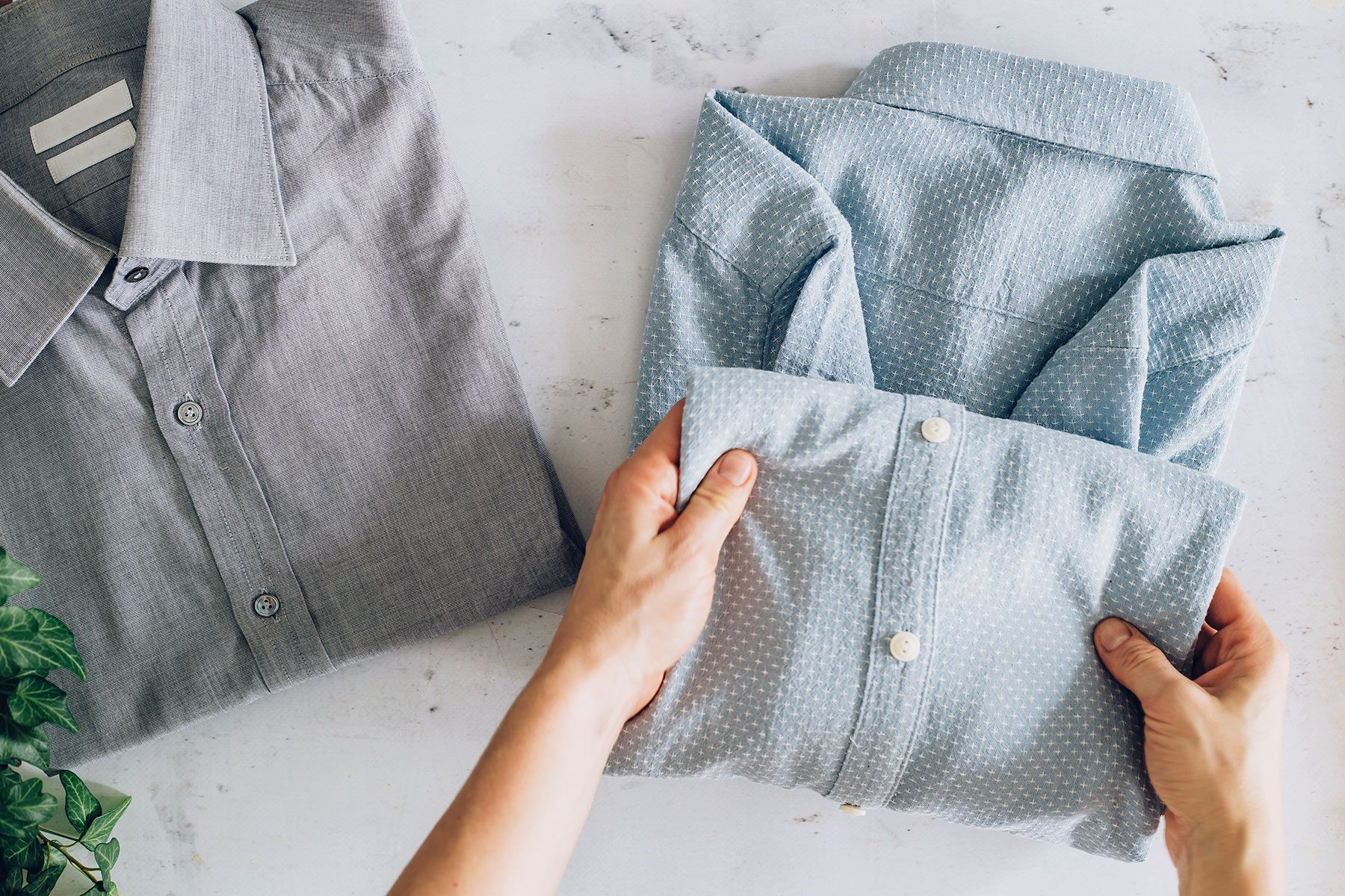 Which is the easiest way to fold a shirt?